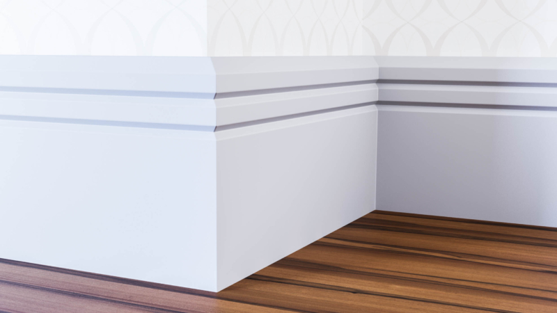 Edge 2 V Groove Skirting Board