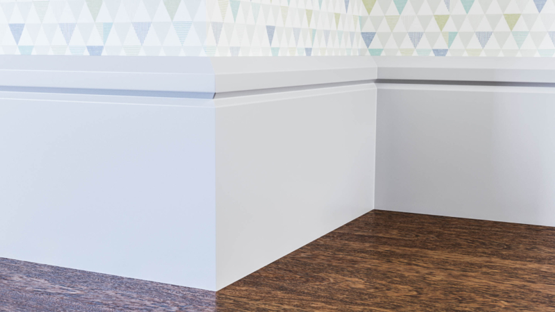 Edge V Groove Skirting Board