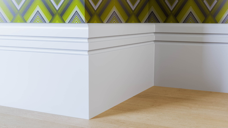 Pencil Round & 2 Drip Skirting Board
