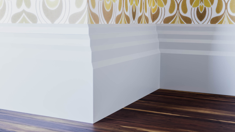 Stepped Edge Skirting Board