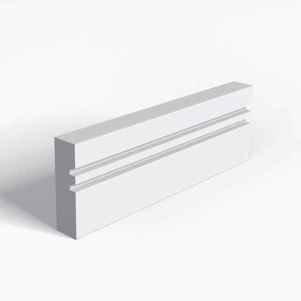 2 Square Grooves Architrave