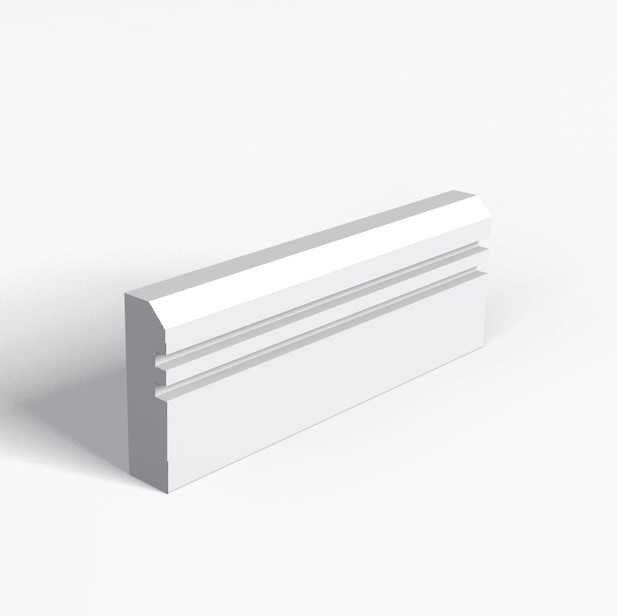 Chamfer And 2 Square Grooves Architrave