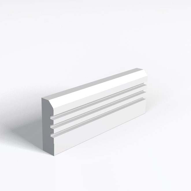 Chamfer And 3 Square Grooves Architrave